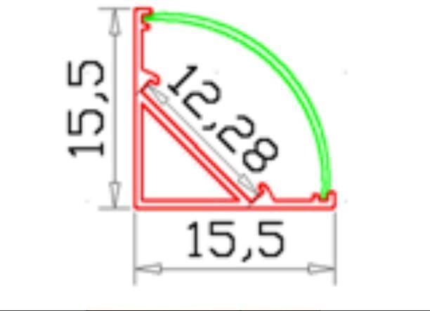 Бос жүк тасымалдау 44M / Lot Corner профильі - LED Жарықтандыру - фото 4