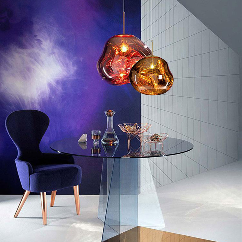 Postmodern Italy Designer Acryl Pendant Light Concise Lava Melt Hanging Lamp Dining Room Kitchen E27 Light Fixtures
