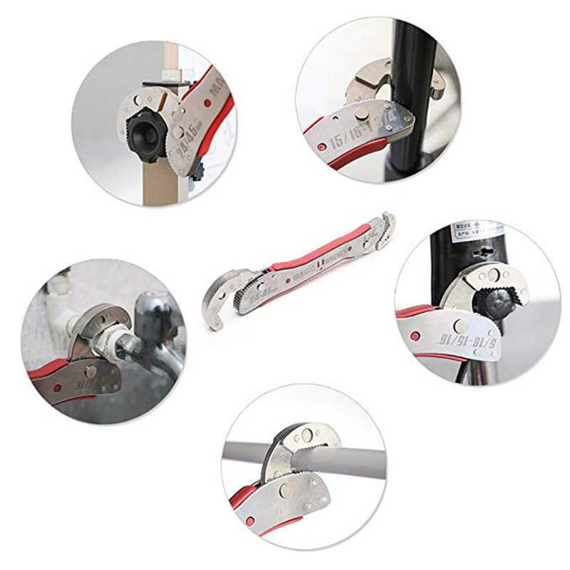 KALAIDUN Adjustable Wrench Multitul 9-45mm Torque Ratchet Socket Universal Key Magic Spanner Key Sets Repair Hand Tools For Home