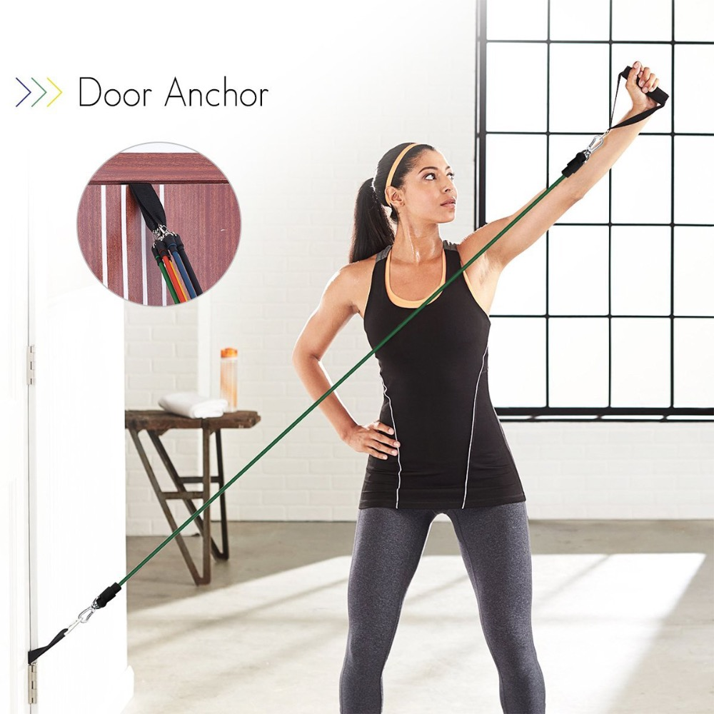 resistance bands door anchor how to use