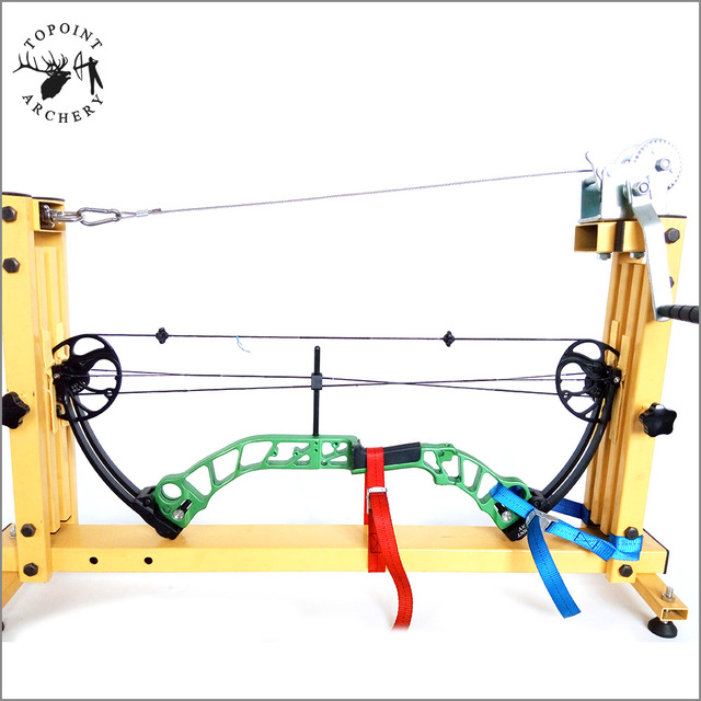 TOPOINT ARCHERY TP119 Bow Press Safest Steel Construction For Compound Bows IncludeTarget&Hunting Compound Bow