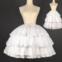 Sweet Short Convertible Rockability Petticoat Lace Trimmed A line/Ball Gown Lolita Pettiskirt