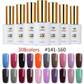 RS 15ml uv color led gel lacquer gel varnish 308 colors nail gel polish #141-160 esmalte permanente a set of gel varnishes(8)