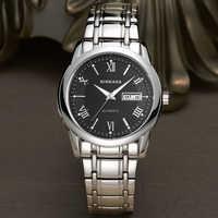 Полностью стальные автоматические механические часы мужские часы Дата простые классические деловые наручные часы Мужские часы Relogio Masculino
