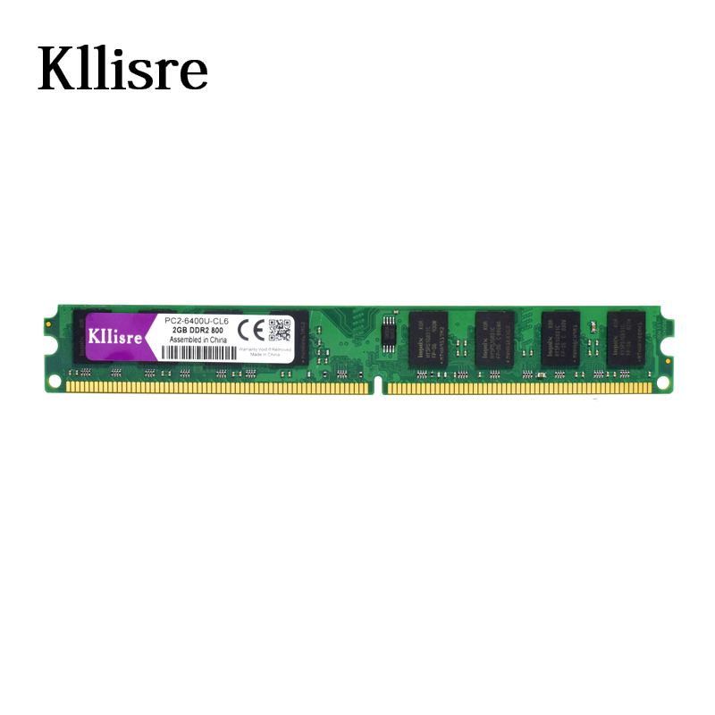 Kllisre DDR2 2GB 800 memory for Desktop RAM non-ECC (INTEL & AMD) System High Compatible