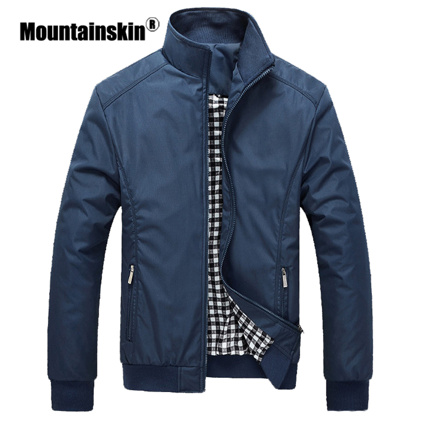 Mountainskin Autumn Coats Men's Jackets 5XL Casual Solid Men's Outerwears Slim Fit Male Bomber Jackets Brand Clothing SA316