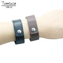 PU Leather Wristband USB Flash Drive 32GB 16GB 8GB 4GB Pen PenDrive Memory Card Usd Stick Bracelet U