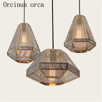 The modern stainless steel light Pyramid Louhua Diamond Light Chandelier