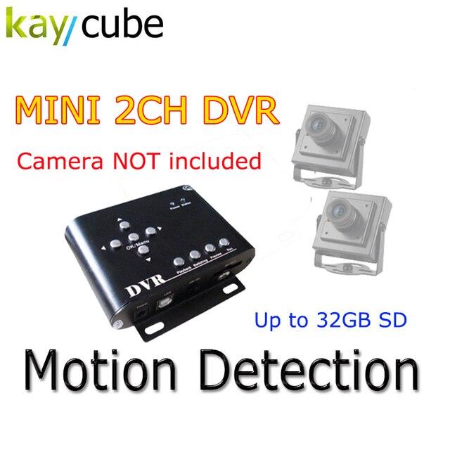 2ch Car Security Dvr Mini Dvr Sd Videoaudio Cctv Camera Recorder