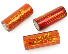 10pcs/lot TrustFire IMR  26650 3400mAh 3.7V Rechargeable High Drain Battery Batteries for Electronic Smoke Flashlight