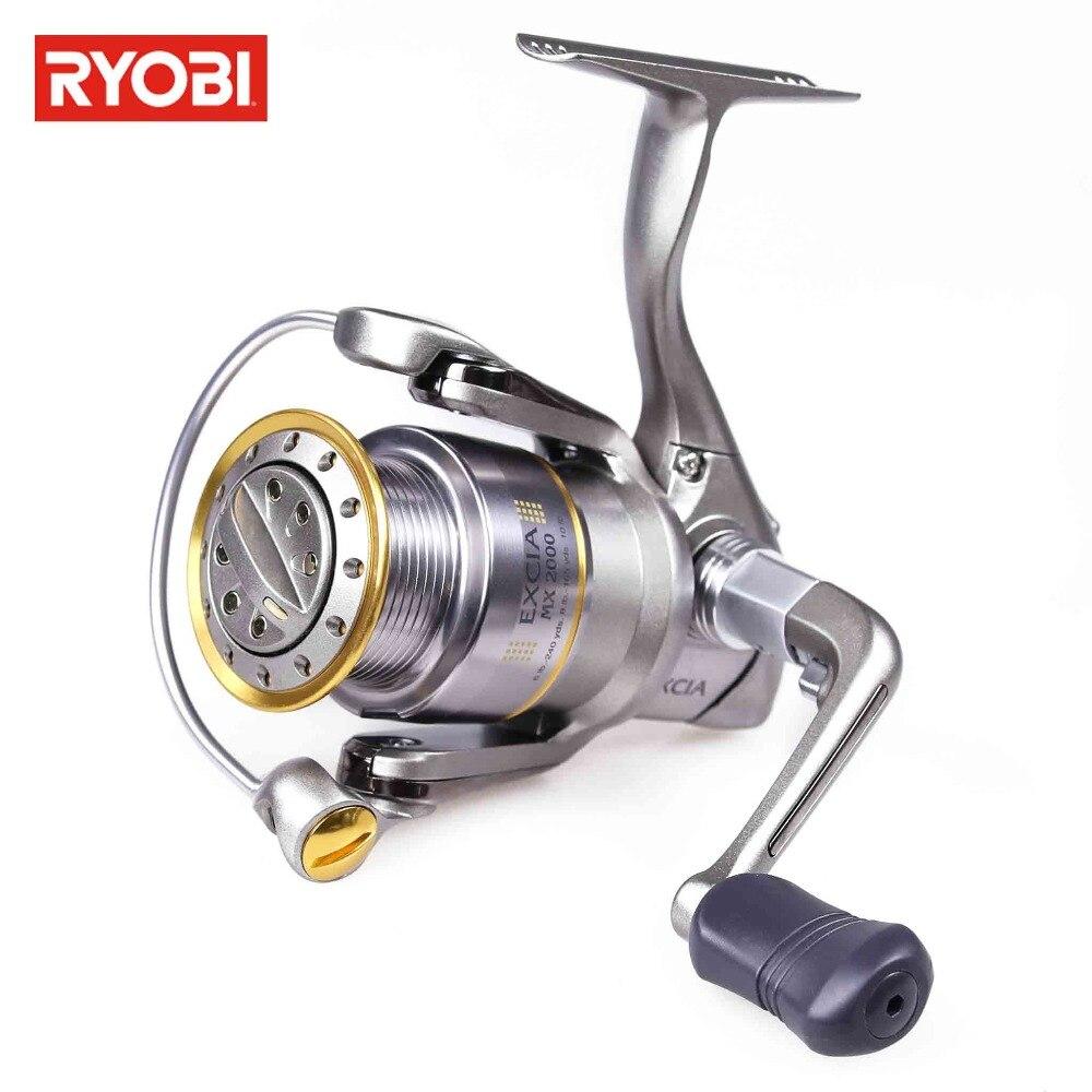 RYOBI EXCIA Bobina di Filatura di Metallo 8 + 1BB Max Trascina 8 kg Carp Fishing Reel Rapporto di trasmissione Moulinet Spinning Leurre 4.9: 1 Pescaria Materiale