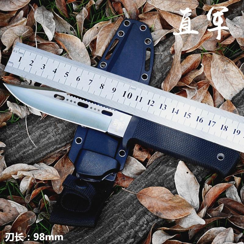 Высокое качество армейский нож для выживания Высокая твердость пустынные ножи необходимые самообороны Походный нож охотничьи наружные ИН...