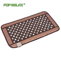 Pop Relax Korea Health Mattress Tourmaline Jade Germanium Ion Electric Heating Physiotherapy Stone Massage Mat Thermal Mattress