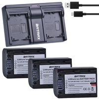3Pcs 1100mAh NP FH50 NP FH50 NPFH5 NP FH70 FH100 Batteries + USB Dual Charger for Sony A230 A290 A390 HX100 HX200 HDR TG1E