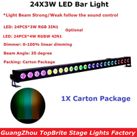 24X3W RGBW 4IN1 RGB 3IN1 Optional LED Wall Wash Light LED Washer Landscape Lights DMX512 Indoor