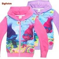 DGFSTM Sweatshirt Trolls Boys Girl Trolls Clothes Brand Children T Shirts Full Sleeve Kids Tee Shirt