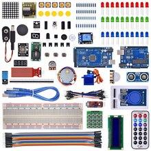 Kit für arduino uno mit mega 2560/lcd1602/hc-sr04/dupont linie in kunststoff-box