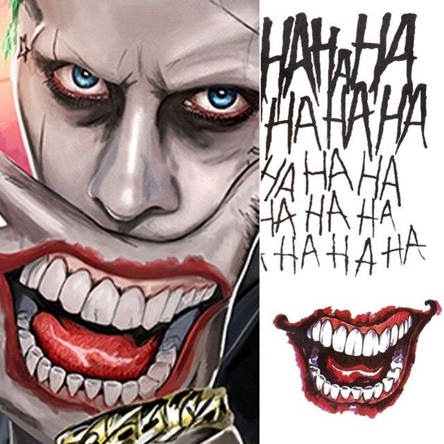 Top 4 Stili di Halloween Cosplay The Joker Autoadesivi Provvisori Del  MM24