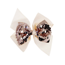 Colorful Sequin Hair Bows for Girls Shiny Rhinestone Bling Kids Hairgrips Clip Festival Accessories