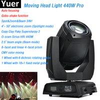 O sram Sirius HRI 440W Professional Moving Head Light With Auto focusing Gobo shake function LCD Display DJ Disco Stage Light