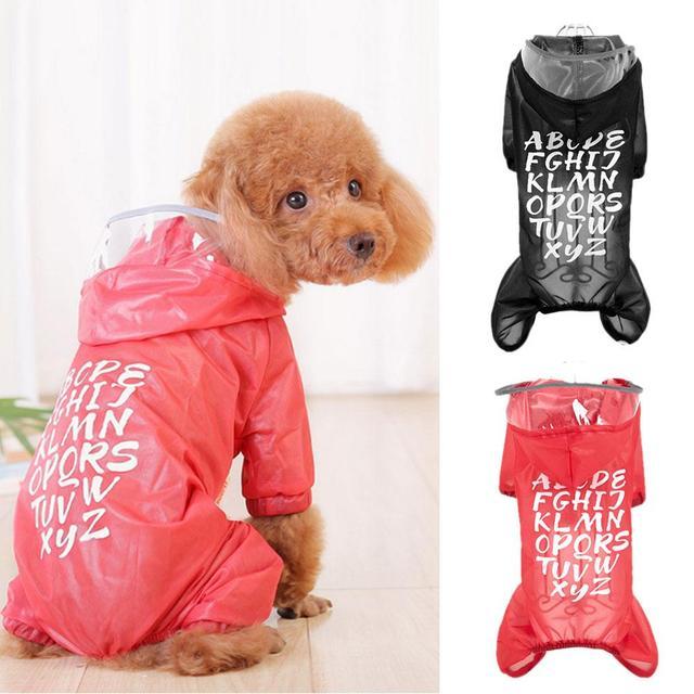 2018 новая стильная одежда для собак, плащ для собак, водонепроницаемые комбинезоны, товары для животных, пончо, зонтик для дождя, пальто, дропшиппинг для собак