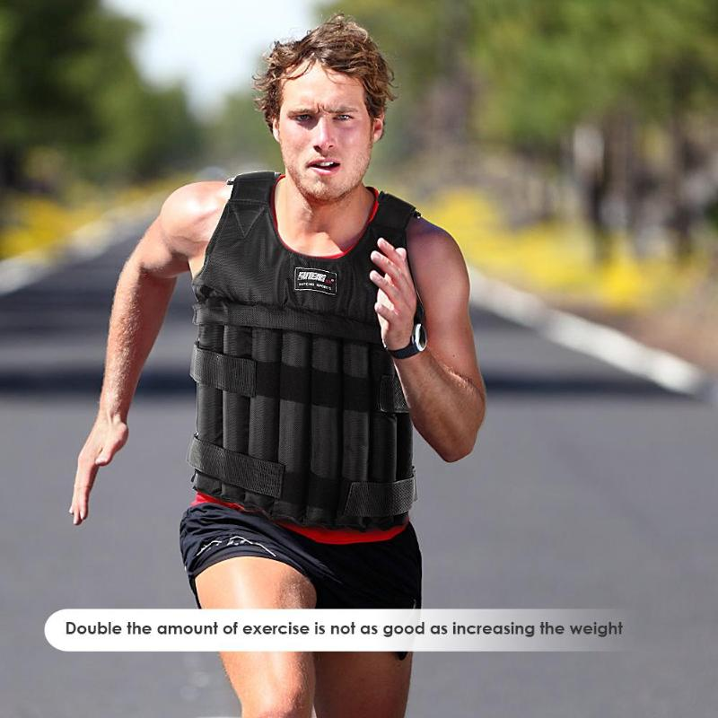 20KG 50KG Max Loading Weighted Vest Adjustable For Boxing Training Thickening Exercise Waistcoat Fitness Jacket Sand Clothing
