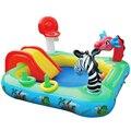 Multifuncional animais de slides piscinas o grande jogo slide piscina piscina piscina de água do bebê piscina de bolinhas crianças Castelo 175X175X105 CM