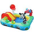 Multifunctional animal slide pools the big game slide pool water pool baby ball pool children Castle pool 175X175X105CM