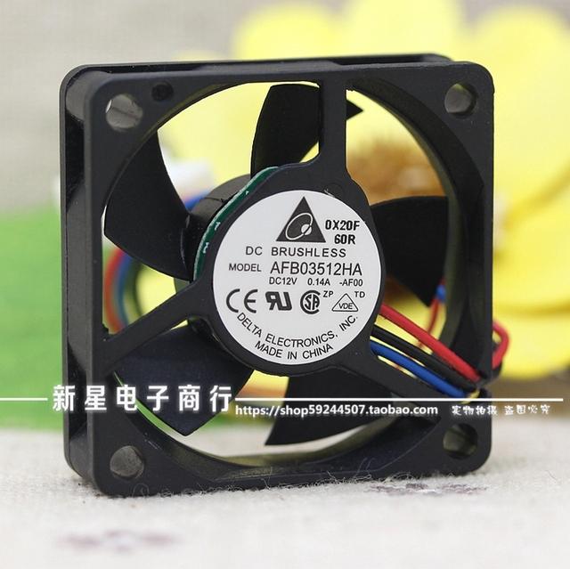 Original 3510 AFB03512HA 0.14A 12 V 3.5 CM dois fios ventilador de refrigeração