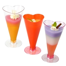 Promotion - Party Wedding Supplies, Disposable Plastic Tableware, 125*70mm/180ml Transparent Sweet Heart Dessert Cup, 10/Pack