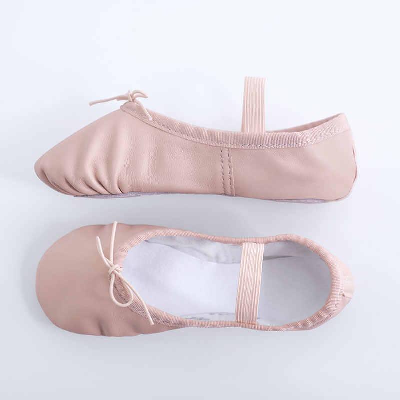 Kleinkind Mädchen Leder Ballett Hausschuhe Volle Sohle Ballett Schuhe Weiche Gymnastik Yoga Dance Training Schuhe für Kinder