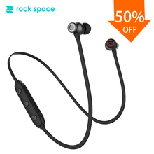ROCKSPACE IPX4 Bluetooth 5.0 Wireless Earbuds Magnetic Design Noise Reduction In-ear For Gym Running With Mic Stereo Sound