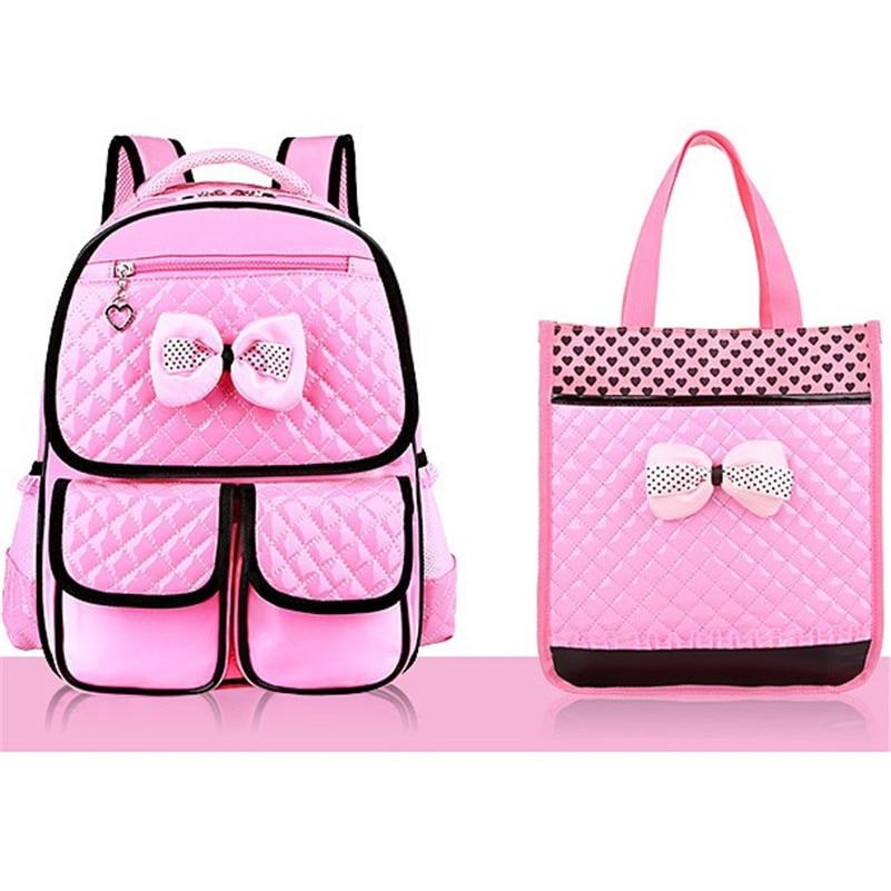 New Fashion Children School Bags Girls High Quality PU Children Backpack School Backpacks Child Book Bag 2019 Free Shipping Z332