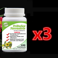 3 Bottle 300pcs Tribulus Terrestris Complex Extract With Saponins Increase Man S T Level Support Muscle