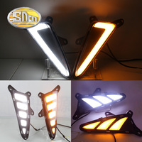 SNCN 2PCS Car LED DRL For Toyota C HR CHR 2016 2017 2018 Yellow Signal Style