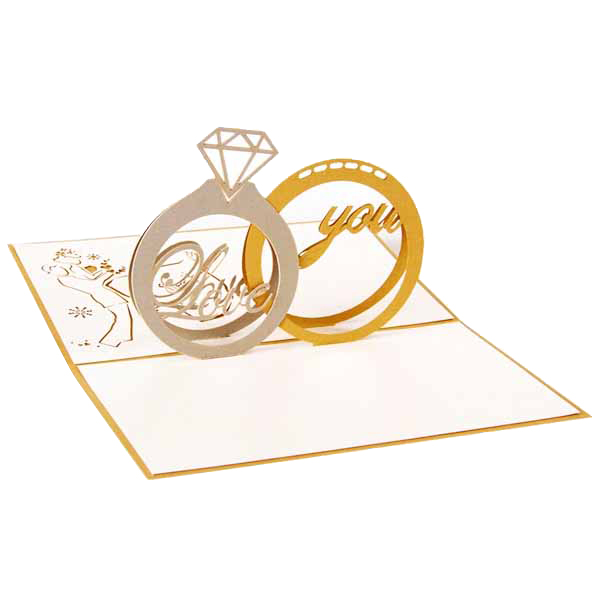 Perfect-Valentines Day Gift Love in the Hand 3D Pop up Greeting Card Postcard Matching Envelope Laser Cut Handmade Birthday Po