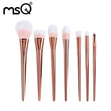 7pcs Rose Gold high quality Makeup Brush Acrylic Diamond Make up Brushes set Foundation font b