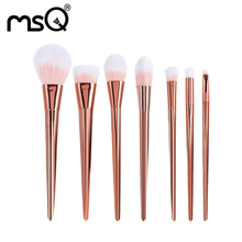 7pcs Rose Gold high quality Makeup Brush Acrylic Diamond Make up Brushes set  Foundation Eye Shadow Brush Beauty Tools