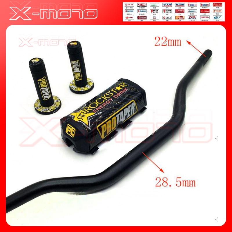 Rockstar Handlebar Pads Handle Grips Aluminum 28mm bar 1-1/8