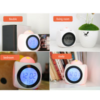 2017new LED Projection Voice Talking Alarm Clock Backlight Electronic Digital Projector Watch Desk Temperature Voice Display 3