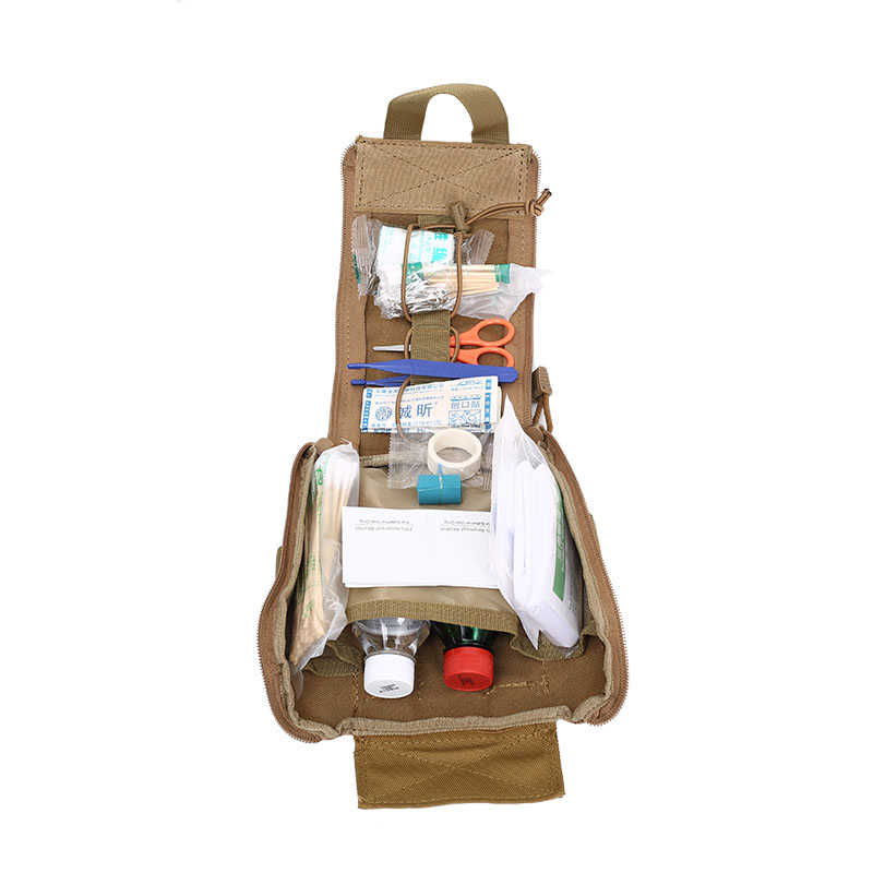 Compact Tactical EMT Utility Pouch MOLLE Militar de Emergência Médica Saco de Kits de Primeiros Socorros Ao Ar Livre Sobrevivência Caça Saco Médico