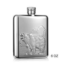 Polar bear 6oz Liquor Flask