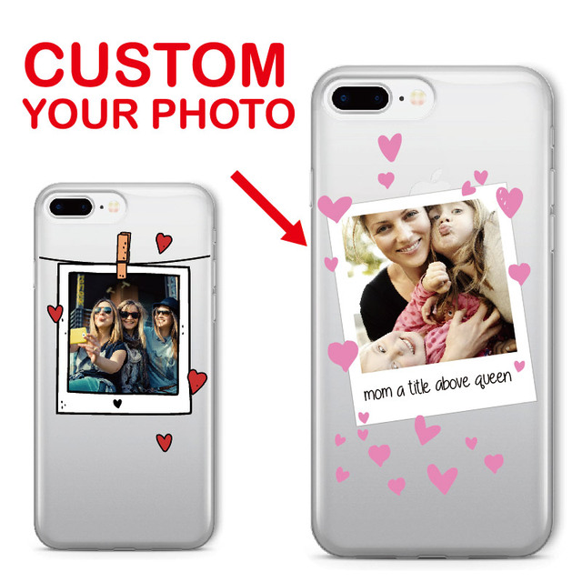 TOMOCOMO Personalized Custom Photo Frame Lover Fun Text Soft Clear Phone Case For iPhone 6 6S XS Max 7 7Plus 8 8Plus X SAMSUNG