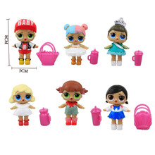 6Pcs/lot LoL Doll Unpacking High-quality Dolls lol Baby Tear Open Color Change Egg LoL Bebek Doll Action Figure Toys Girls Gift