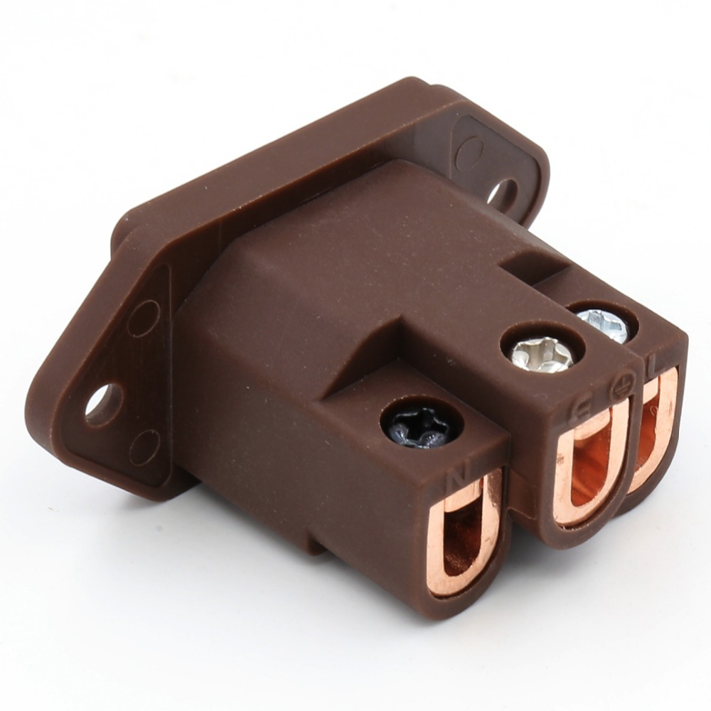 Viborg VI-06CC Audio Grade Pure Red Copper IEC AC Inlet IEC Socket  Plugs Jack