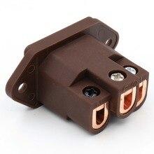 Viborg VI 06CC de cobre, conector de entrada IEC AC, Rojo puro de calidad de Audio