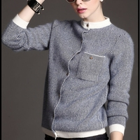 2018 Fashion Spring Winter Women O neck Knitted Cashmere Wool Striped Sweaters Female Designed Cardigans Casual Coat Plus Size