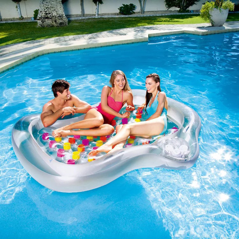 Pool Float Inflatable Boat Double-people  Swimming Float Adult Swim Air Mattresses Ring Summer Water Toy With Pump