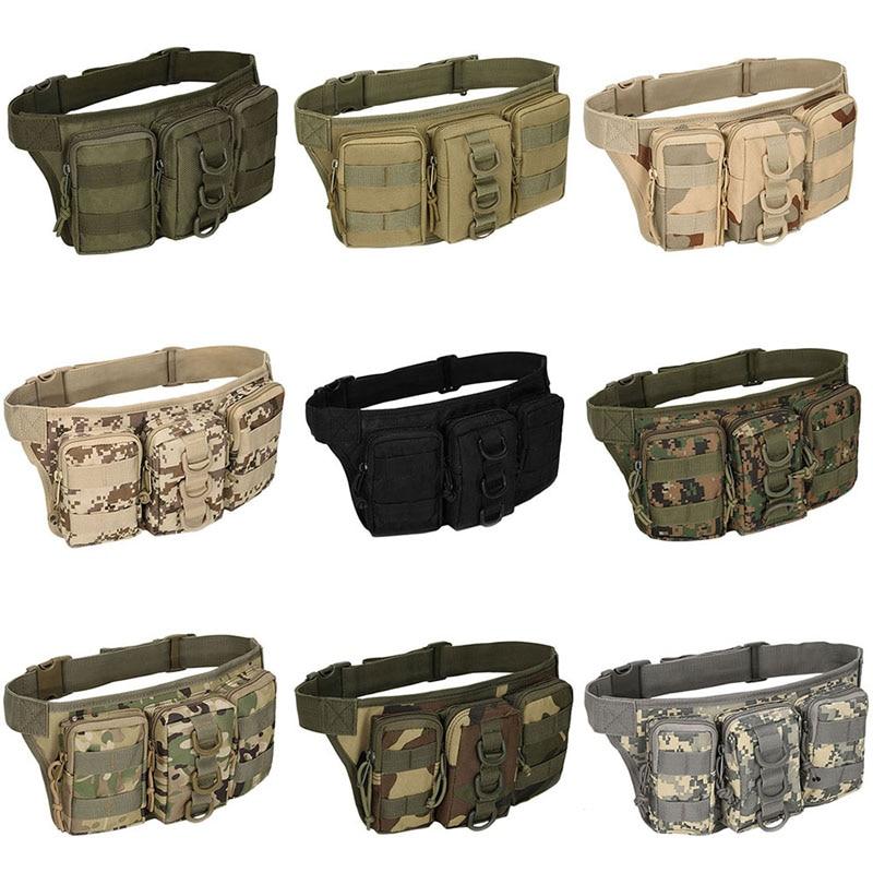 THINKTHENDO Oxford Fabric Utility Waist Pack Pouch Military Bag Belt Bags Zipper Waist Pack Bag Men