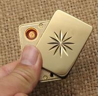 Metal Güneş Çiçek USB Çakmak Kişiselleştirilmiş Yaratıcı Hediyeler, elektronik Sigara Rüzgar Geçirmez Çakmak Şarj